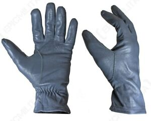 Original-German-Army-Leather-Gloves-Winter-Driving-Smart-Surplus-Military-Grey