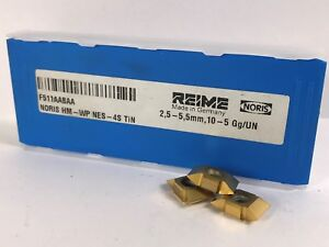Reime F511aabaa Noris Hm Wp Nes 4s Tin New Carbide Inserts 3pcs Ebay