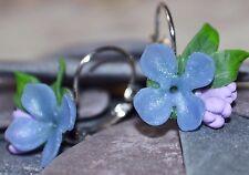 Lilac Earrings, Handmade Polymer Clay, Spring, Summer Flower, Nature, Wedding