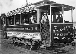 1890-Washington-DC-Street-Car-Trolley-PHOTO-Vintage-Electric-Streetcar-Scene