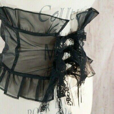 Lady Lace Belt Gothic Lolita Corset Girdle Waistband Kawaii Lace Up Retro Chic