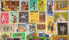 DANCES on Stamps - 25 Different Large World Wide Mixed Thematic Used Stamps -