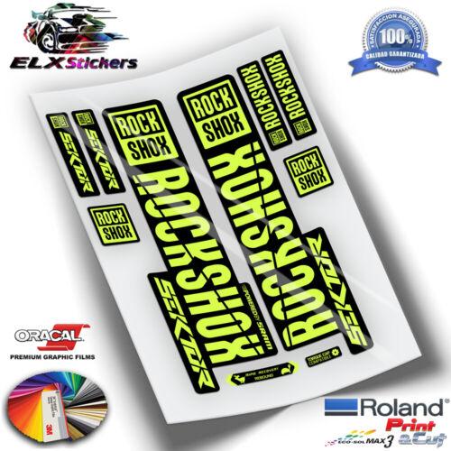 AUFKLEBER DECALS AUTOCOLLANTS FLUOR ROCKSHOX SEKTOR MTB FORK WP265 ADESIVI
