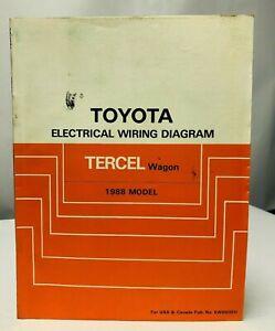 1988 TOYOTA TERCEL Wagon Electrical Wiring Diagrams Shop ...