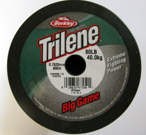 100m = 4,99 € 600m Berkley Trilene Big Game vorfachschnur 0,76mm 40kg Clear