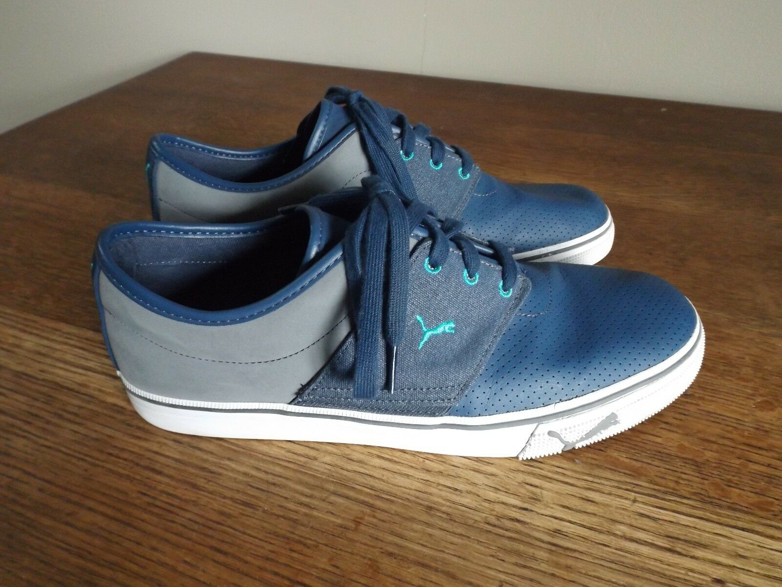 PUMA EL ACE L GT Denim/Steel Gray/Blue Grass Low Profile Sneaker Comfortable The latest discount shoes for men and women