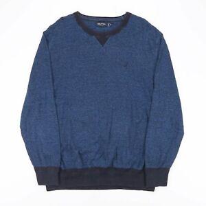 Nautica Blau 00s Rundhals Pullover Herren XL