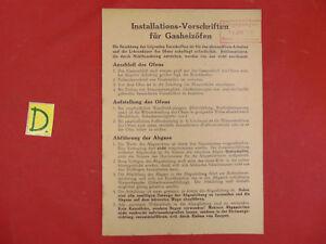 Durchblutung Aktivieren Und Sehnen Und Knochen StäRken Schlosser Installations-vorschriften Für Gasheizöfen 1952 Ca21x15cm