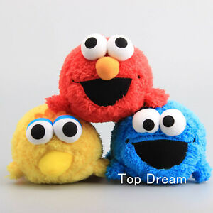 Details About Cute Sesame Street Elmo Cookie Monster Big Bird Plush Toy Stuffed Doll 7 Teddy