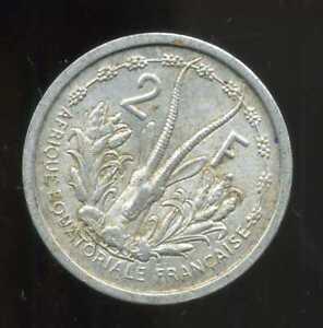 Vente Professionnelle Afrique Equatoriale Francaise 2 Francs 1948 ( 2 )