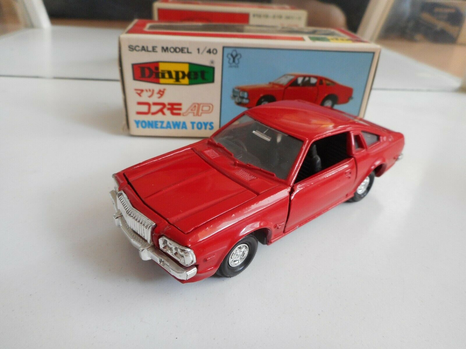 Yonezawa Toys Diapet Mazda Cosmo  AP Limited in rouge on 1 40 in Box  produits créatifs