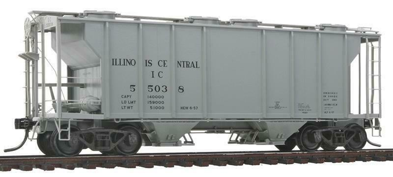 HO Kadee 8040 ILLINOIS CENTRAL IC PS-2 Covered Hopper Car NIB Train