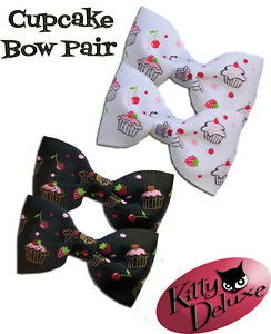 Cupcake-Bow-Pairs-by-Kitty-Deluxe-EMO-Punk-Goth-Burlesque-Rockabilly