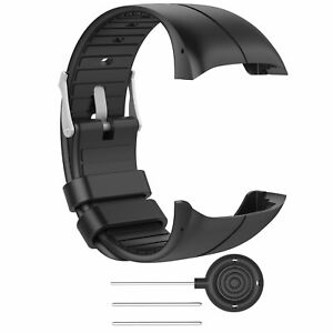 Silicone-Wristband-Band-For-Polar-M400-M430-GPS-Smart-Watch-5-5-039-039-8-0-039-039-Black