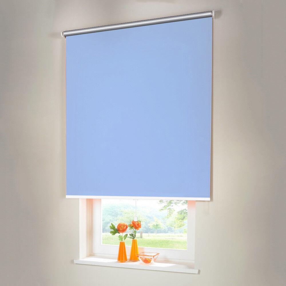 Persiana para oscurecer Thermo mittelzug Spring persiana persiana de-altura 210 cm azul claro