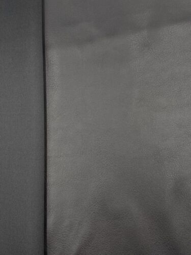 Leder Imitat Stoff Kunstleder Stretch schwarz ab 50 cm
