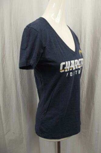 NWT NFL Team Apparel Womens MEDIUM Los Angeles Chargers V-Neck Top M NEW S//S