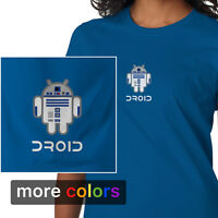 Star Wars Android R2-d2 Droid Womens T-shirt, R2d2 Darth Vader Empire Jedi Tee