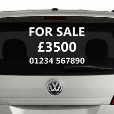 Para venta etiqueta engomada Signo Calcomanía   coche personalizado o van Vinilo caravana anuncio ventana   S19