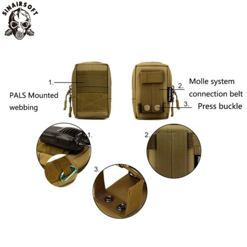 Outdoor Tactical Molle Pouch Military Waist Bag Pack Hiking Pocket Phone Case