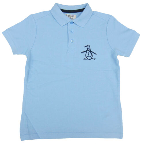 Penguin Boys Polo T-Shirt Light Blue Tee 100/% Cotton Ages 6 Years up to 13 Years