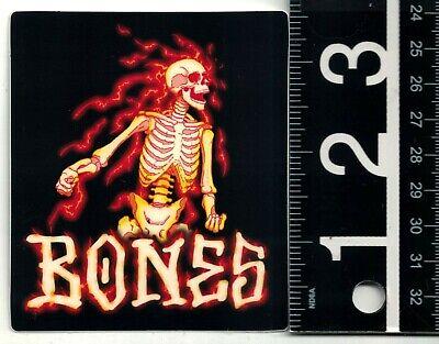 POWELL PERALTA SKATEBOARDS STICKER Bones Tucking Skeleton 3.6 in x 1.6 in Decal