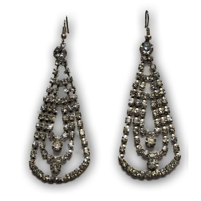Glitz Glam Blue Diamontrigue Jewelry: Chandelier Glamour Earrings