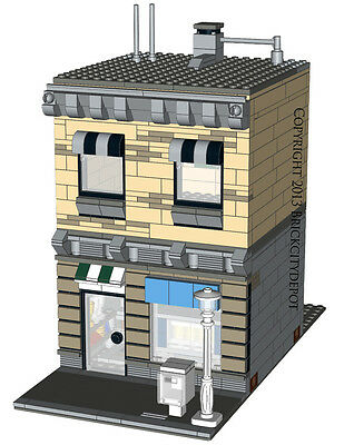 Lego Custom Modular Building - Town Shop -INSTRUCTIONS ONLY! 10232 Alternative