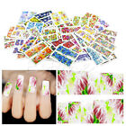 Hot 50 Sheets Nail Art Wrap Water Transfer Flower Slide Flower Decals Stickers
