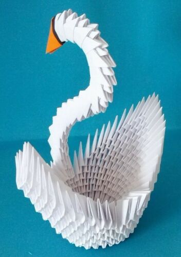 Great for Wedding Bridal Shower !! Extra Large Hand-made 3D Origami Swan