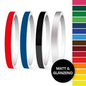 Zierstreifen-Seitenstreifen-1-mm-10-mm-Auto-Weiss-Schwarz-Silber-Gold-Gelb-Blau