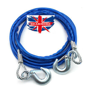 4m Heavy-Duty Emergency Steel Tow Rope Towing Car Recovery Hook