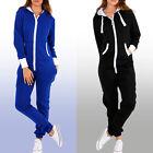 New Adult Womens Jumpsuit Zipper Hoodie Playsuit Tracksuit Comfy Pajamas S-2XL