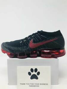 b429943271 Nike Air VaporMax Flyknit 'Bred' Black Team Red 849558-013 Size 11.5 ...