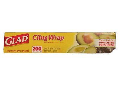 00020 Roll Ft 134702 Glad ClingWrap Plastic Food Wrap 200 Sq