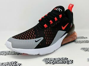 newest f6853 42659 Details about Nike Air Max 270 Black Bright Hyper Crimson Wolf Grey Red  Running AH8050-015