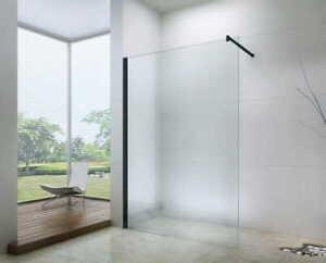 Walk-In-Duschkabine-Duschabtrennung-Duschtrennwand-schwarz-Dusche-LOFT-70-120-cm
