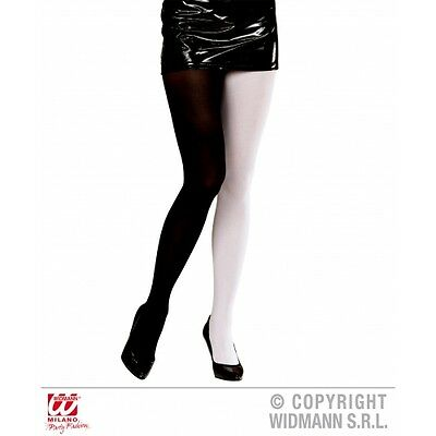 2 Colori Calze Donne Ragazze Yin Yang Jester Harley Quinn Collant Circo 1c