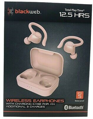 Blackweb True Wireless Bluetooth Earphones W Charging Case Bwd19aah07 Rose Gold Ebay