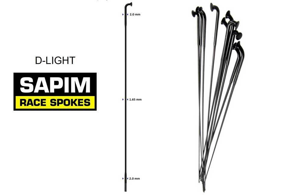 SAPIM RAGGI D-LIGHT spokes negro    negro 290 mm. 65 PZ. 801ef3