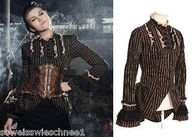 RQ-BL Steampunk Rüschen Bluse Pirate Long Shirt Gothic Lolita Dress Blouse SP106