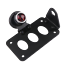Support-universel-de-plaque-d-039-immatriculation-a-montage-lateral-pour-moto-bobber miniature 2