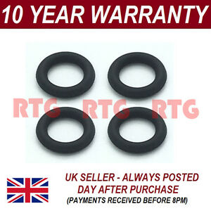 FOR KIA 1.6 DIESEL INJECTOR LEAK OFF ORING SEAL SET OF 4 VITON RUBBER UPGRADE