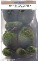 11 Piece Green Fuzzy Moss Rocks (crafting) Garden