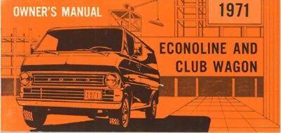 ford econoline van club wagon owners manual user