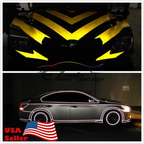 """*48/""""x48/"""" Reflective Red Vinyl Car Wrap Sticker Decal Graphic Sign Adhesive Film"""