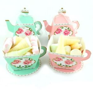 50-100Pcs-TeaPot-Paper-Boxes-Candy-Sweets-Cookies-Biscuits-Party-Favour-Gift-Bag