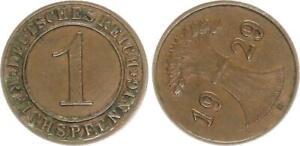 Weimar-1-Peniques-1929E-Fehlpragung-290-Grados-Stempeldrehung-27202