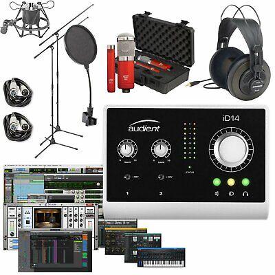 Audient iD4 Studio Recording Bundle with M-Audio AV32 Monitors