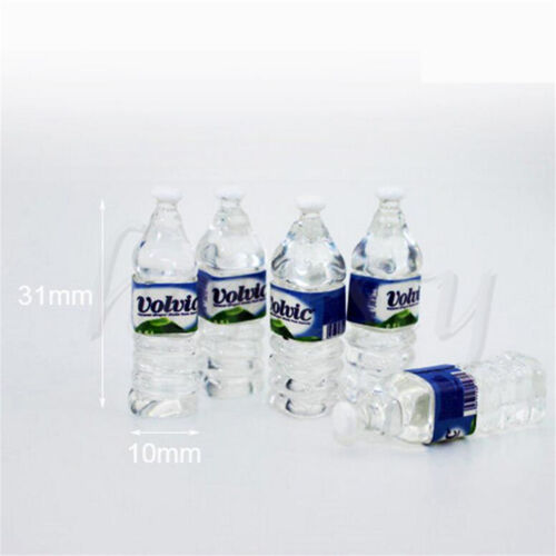 5 Bottle Water Sets Drinking Miniature DollHouse 1:12 Toys Accessory Collection
